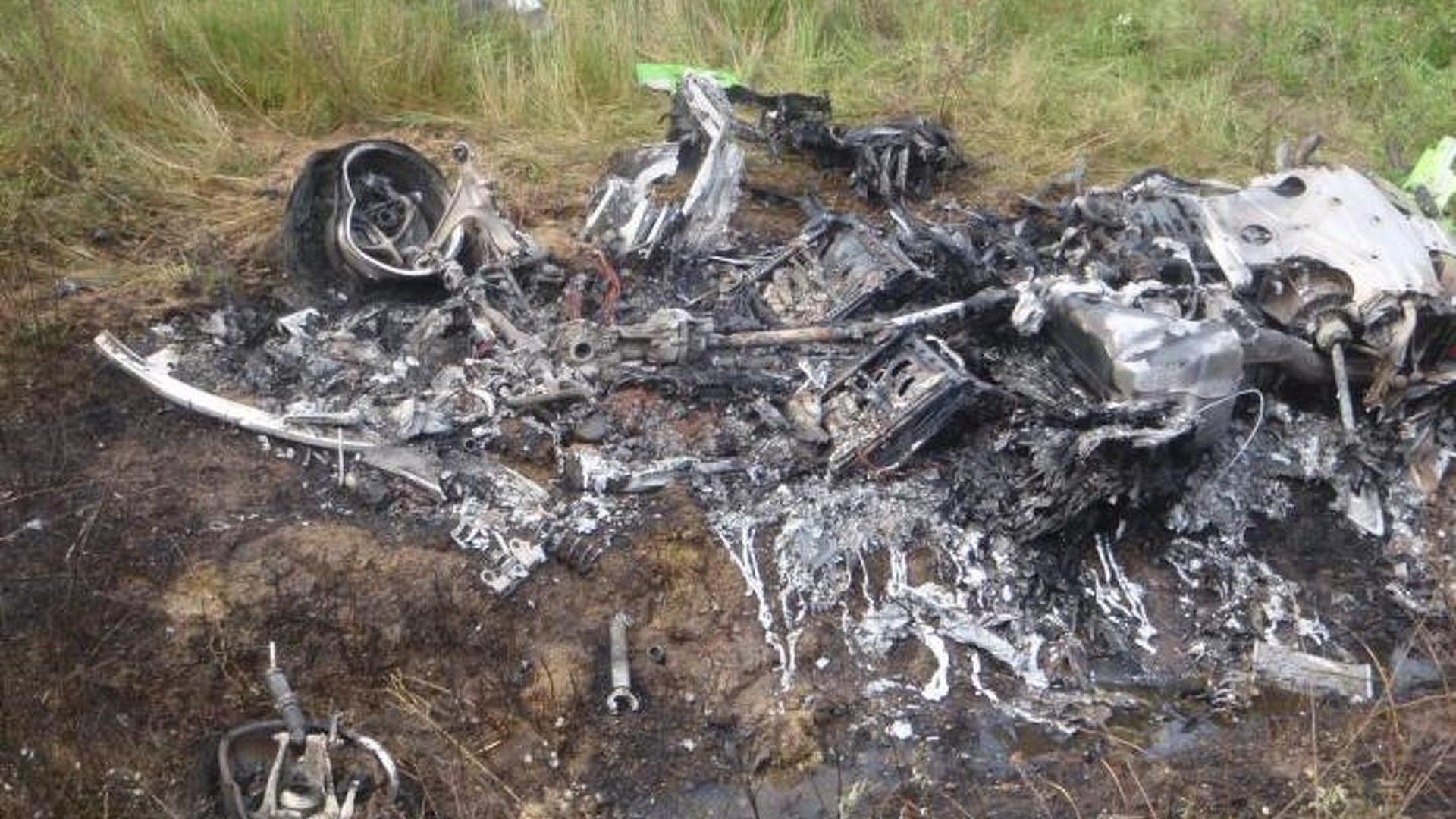 Lamborghini Huracan burns beyond recognition after crash in Hungary