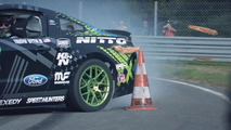 Vaughn Gittin Jr drifts the RTR Mustang in France [video]