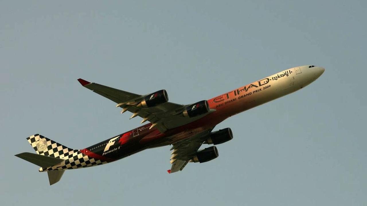 Etihad plane, Abu Dhabi Grand Prix, Sunday Pre-Race Grid, 01.11.2009 Abu Dhabi, United Arab Emirates