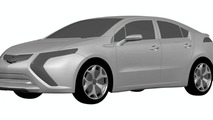 2011 Opel Ampera AKA European Volt Design Sketches Leak to Web