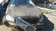 Mercedes S400 Hybrid crash 07.10.2013