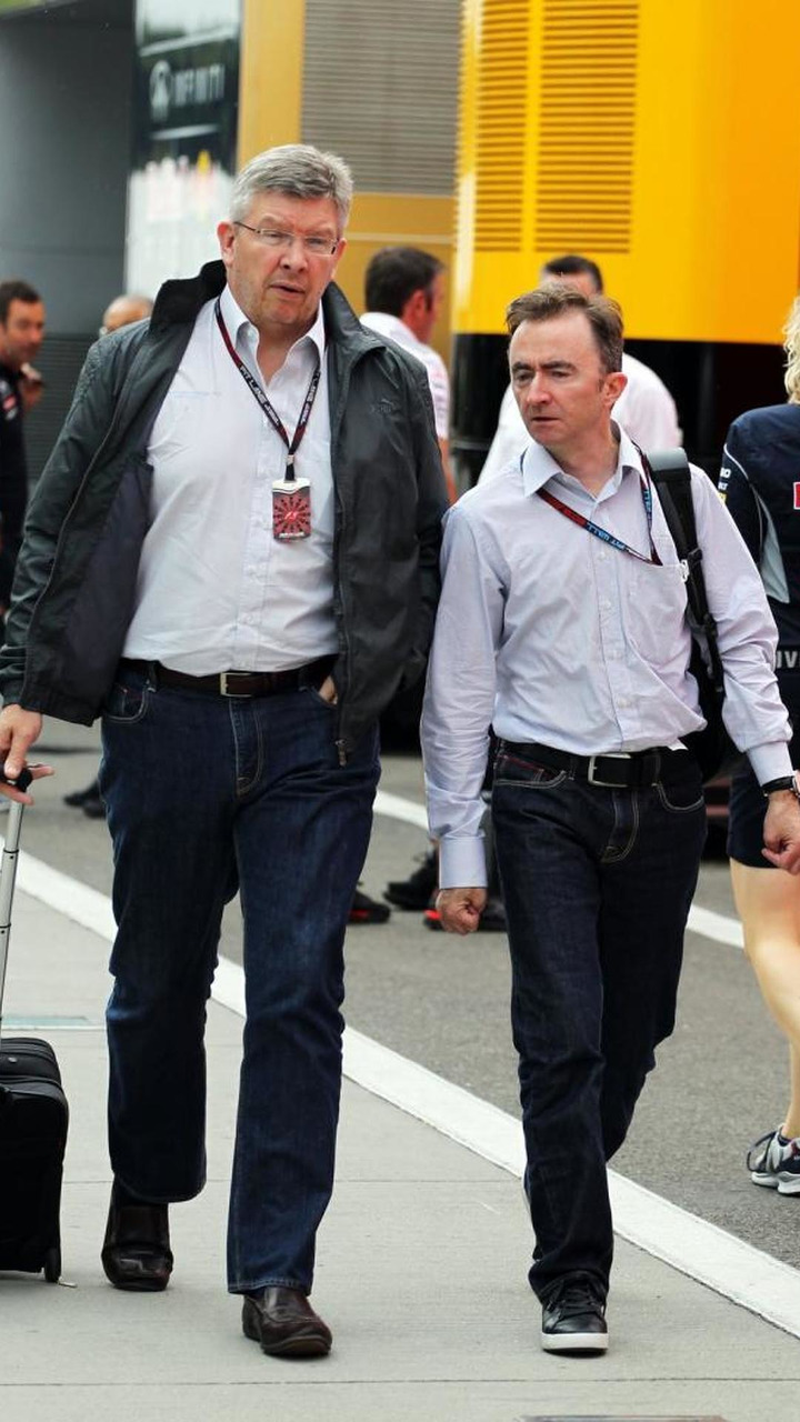 Ross Brawn with Paddy Lowe (GBR) 25.07.2013 Hungarian Grand Prix