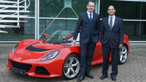 Newly appointed Lotus CEO Jean-Marc Gales and former CEO Aslam Farikullah