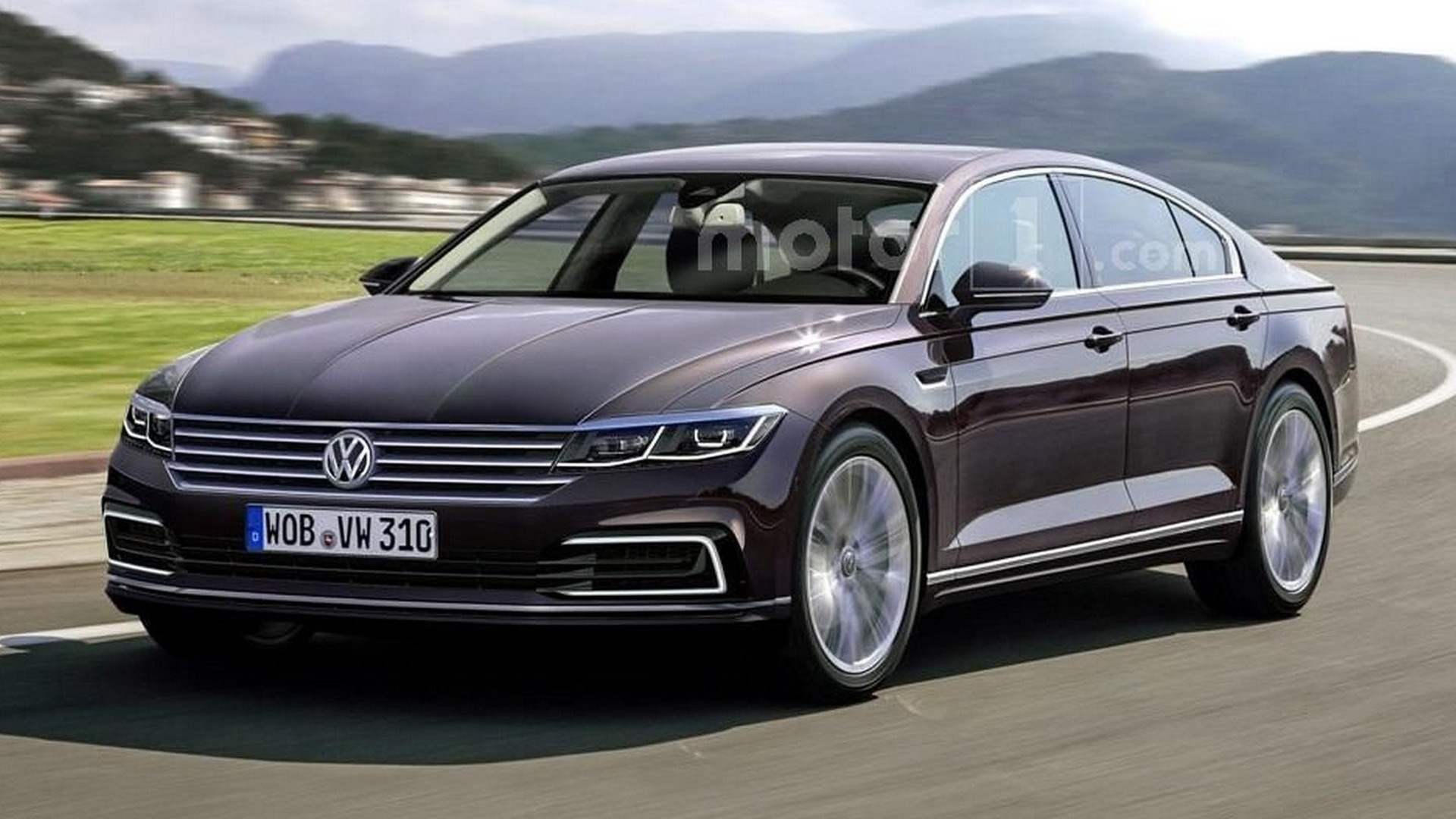 Next VW Phaeton rendered, but won't be out soon
