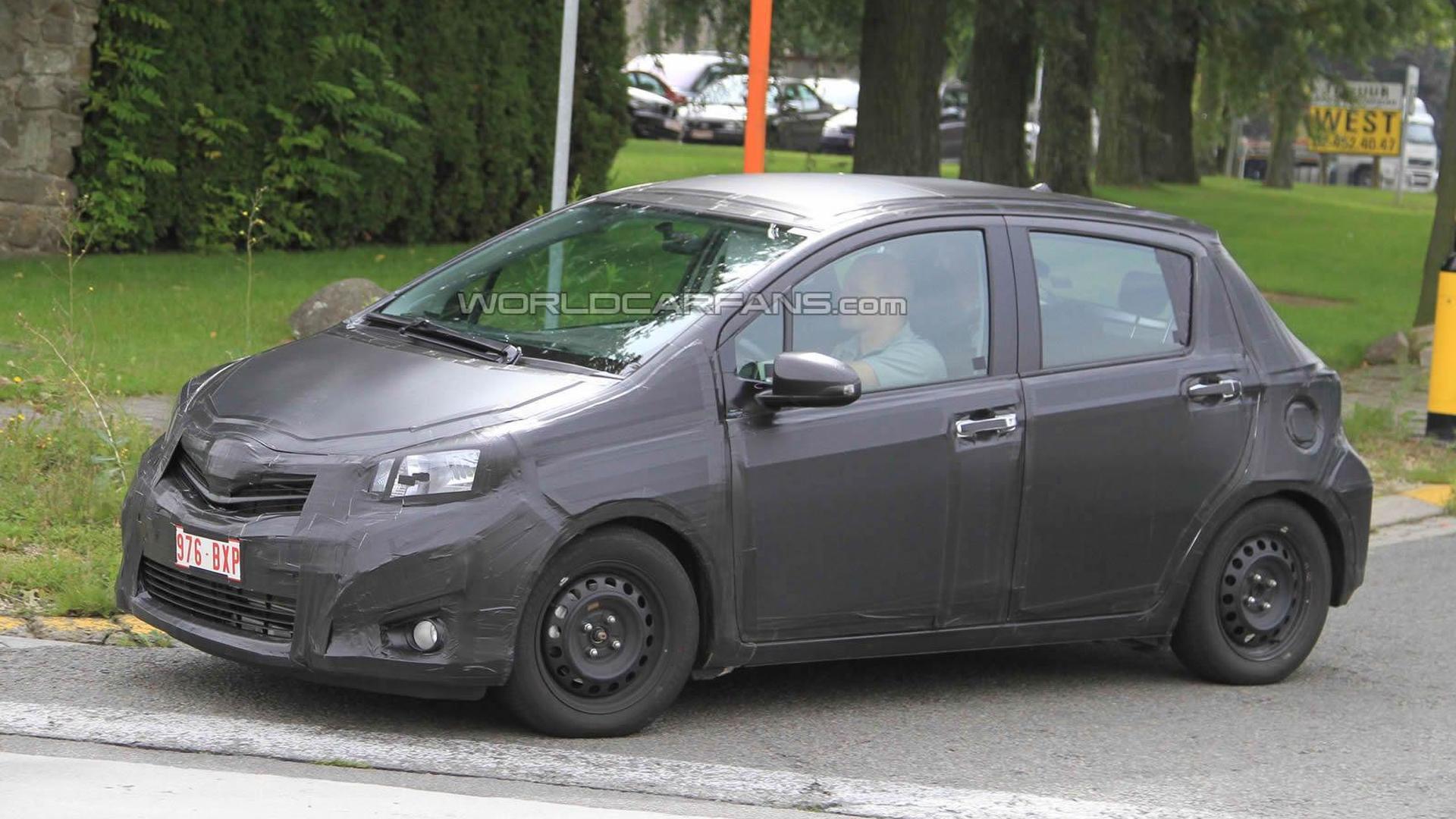 2012 Toyota Yaris prototype already on the road