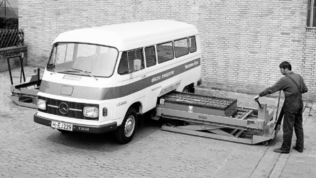 Mercedes debuted an electric van 45 years ago