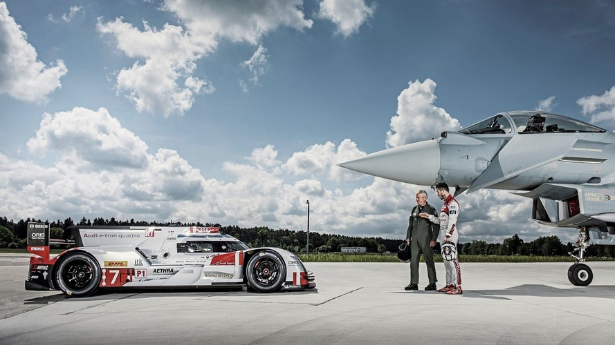 Audi R18 e-tron quattro meets the Eurofighter Typhoon