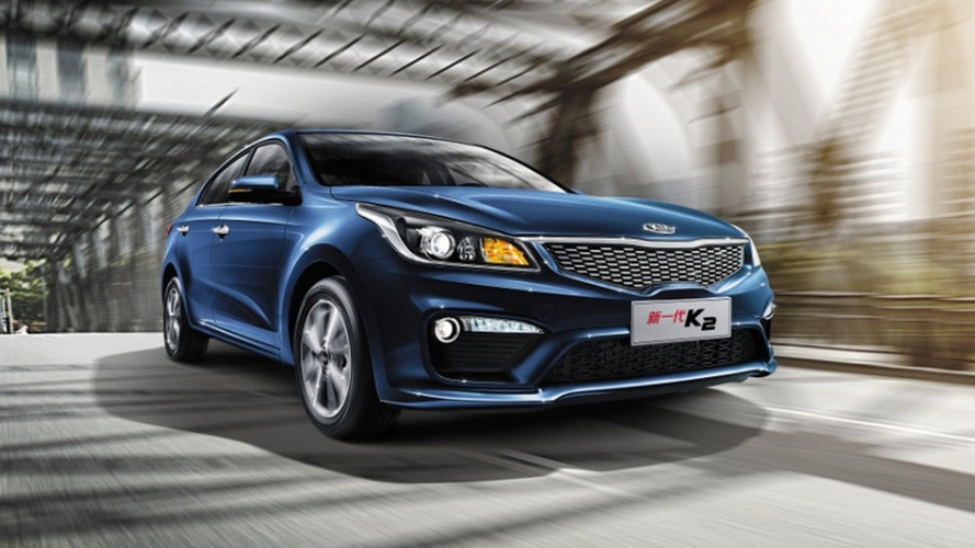 2018 Kia Rio Sedan previewed in China by the new K2