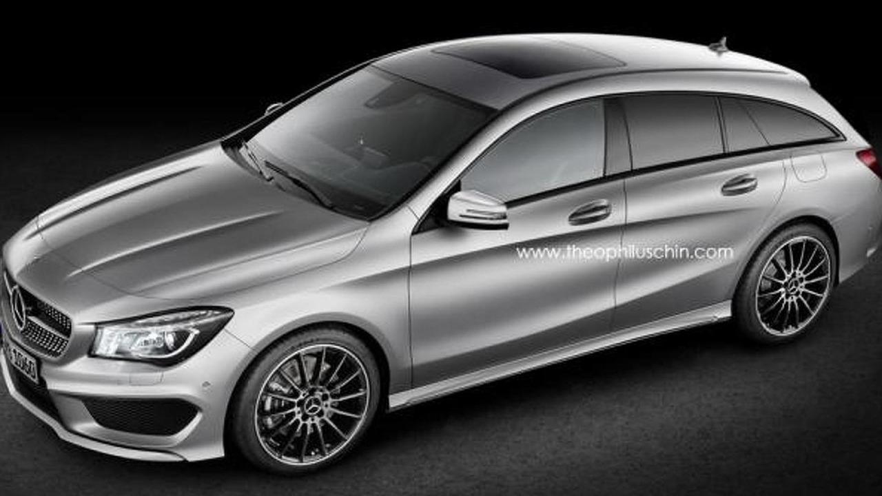 Mercedes-Benz CLA Shooting Brake speculative render
