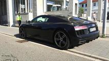 2015 Audi R8 V10 painted in Mythos Black seen in the metal