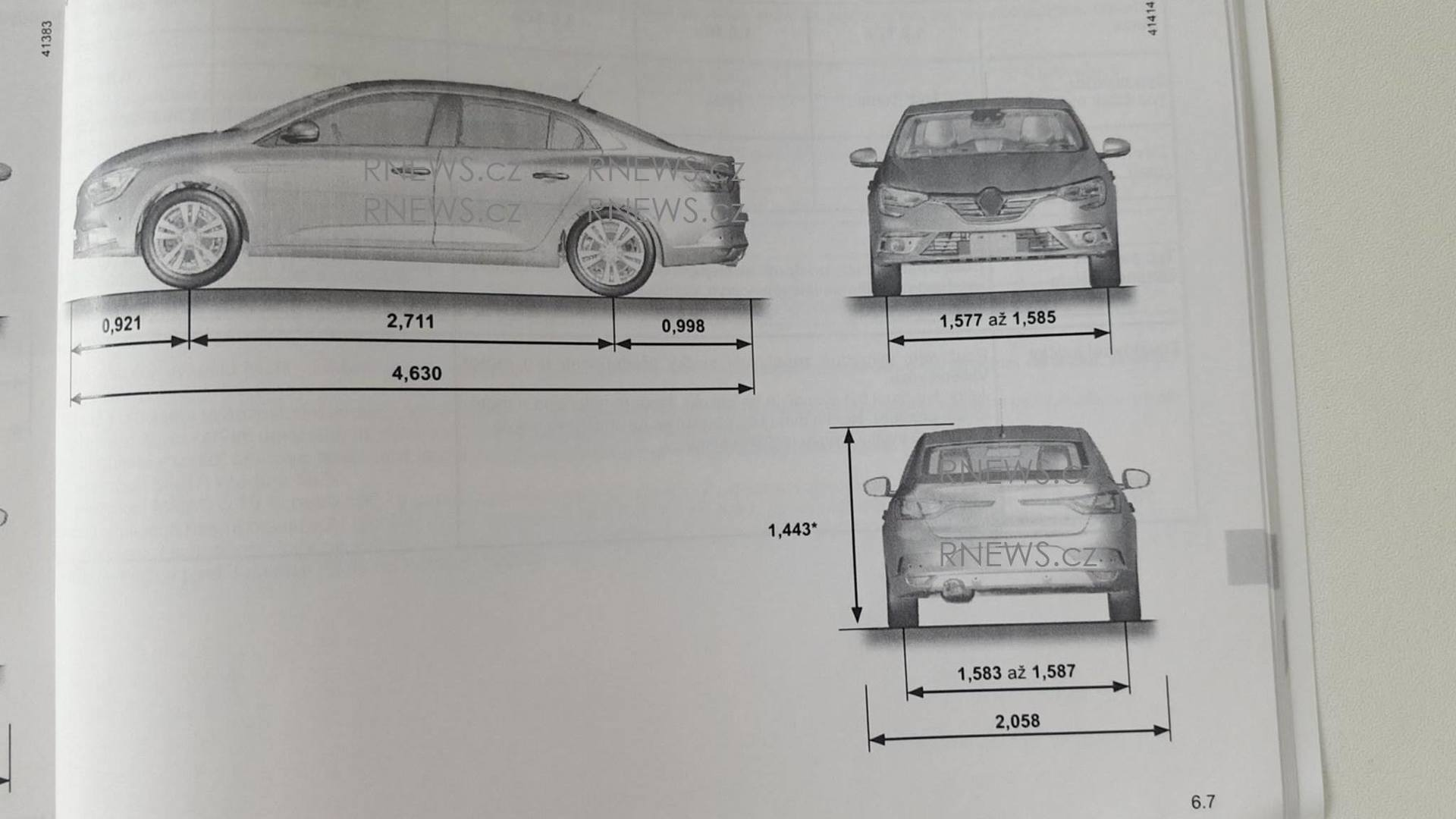 2017 Renault Fluence / Megane Sedan owner's manual leaked