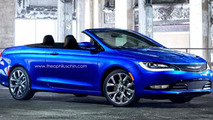 2015 Chrysler 200 rendered as a convertible