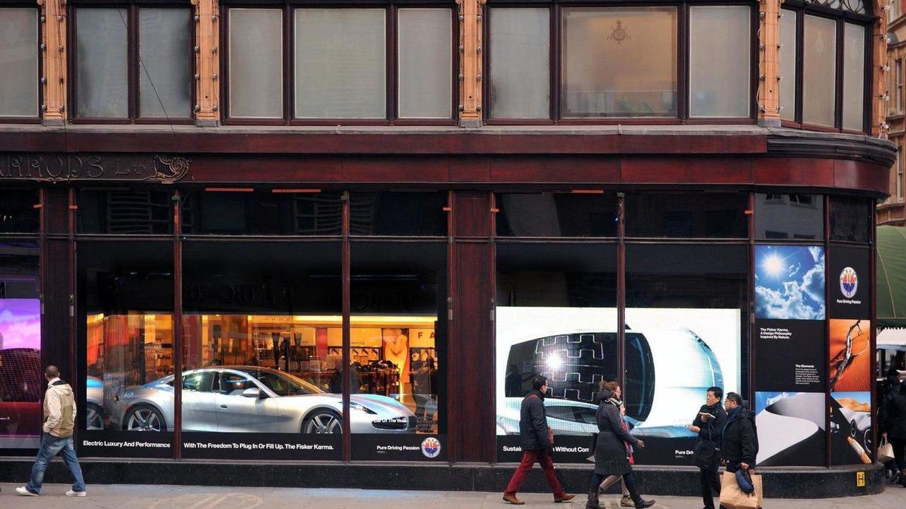 Fisker Karma at Harrods department store London 17.01.2012