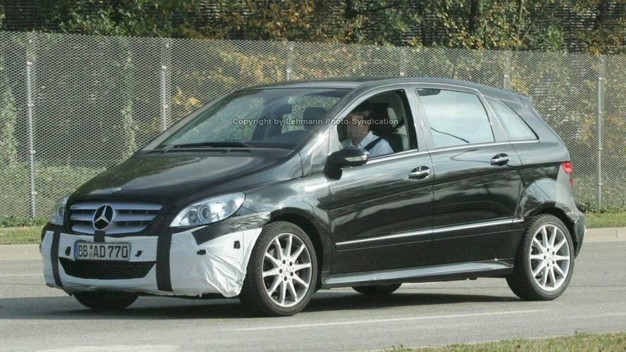 Mercedes B-Class Latest Facelift Spy Photos