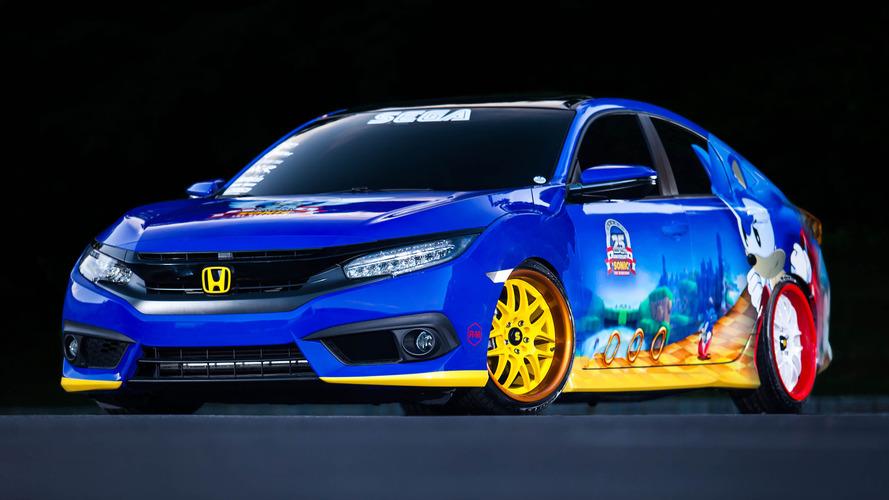 La Honda Civic Sonic Edition exposée sur le Comic Con
