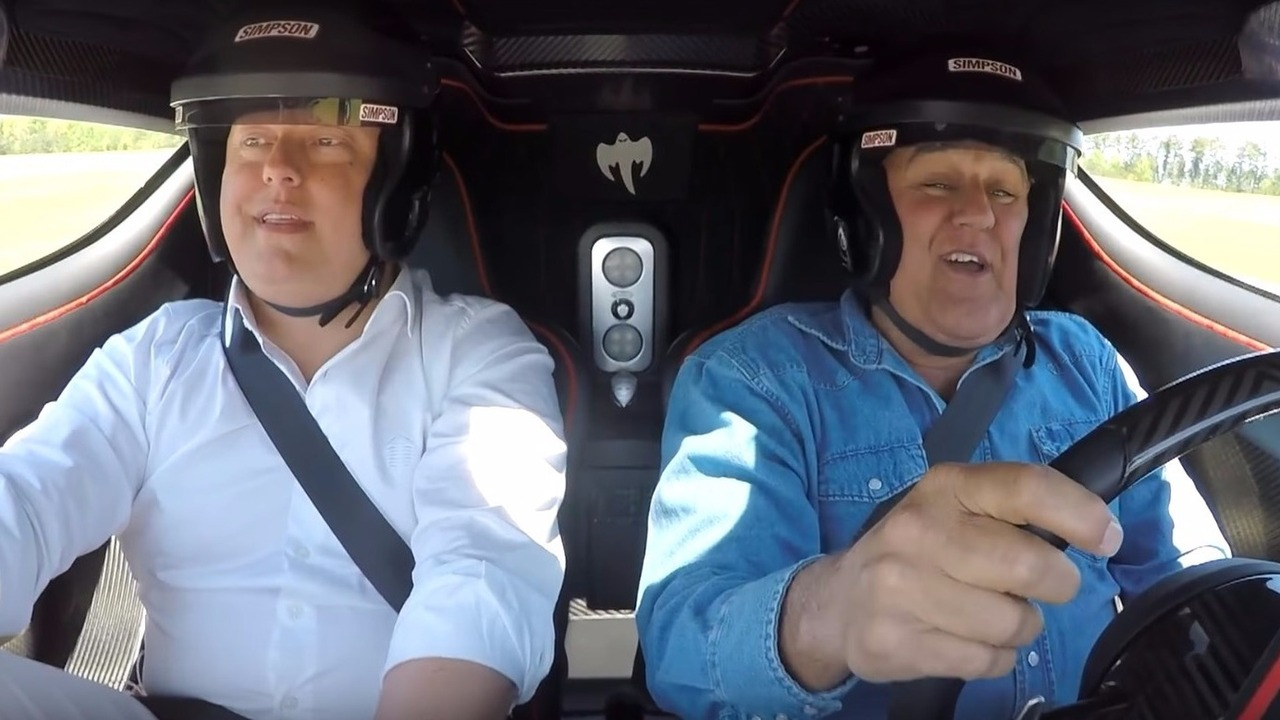 Jay Leno drives Koenigsegg One:1