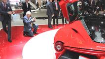 McLaren chief designer Frank Stephenson taking a photo of the LaFerrari at 2013 Geneva Motor Show