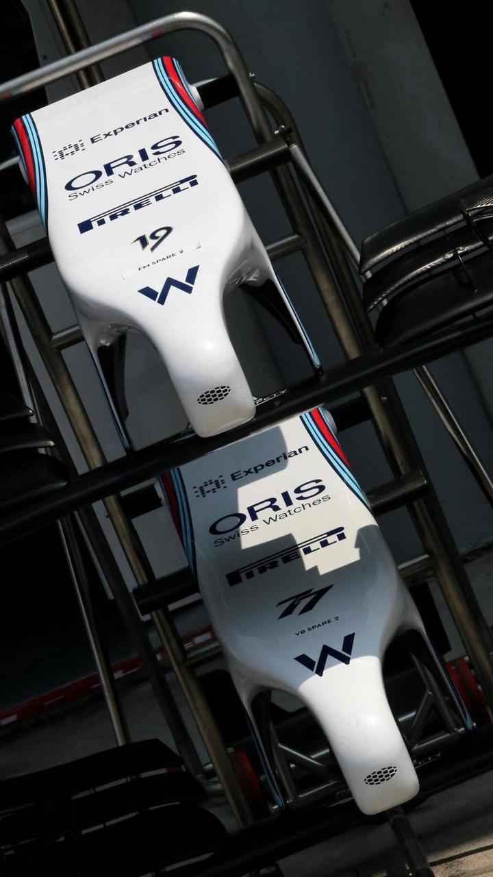 Williams F1 Team front wings, 30.03.2014, Malaysian Grand Prix, Sepang / XPB