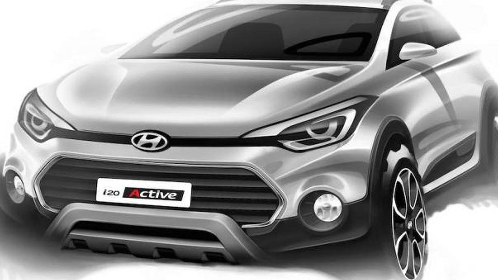 Hyundai i20 Active previewed in official design sketches