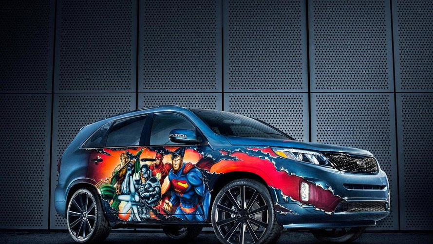 Justice League-themed Kia Sorento unveiled at San Diego Comic-Con