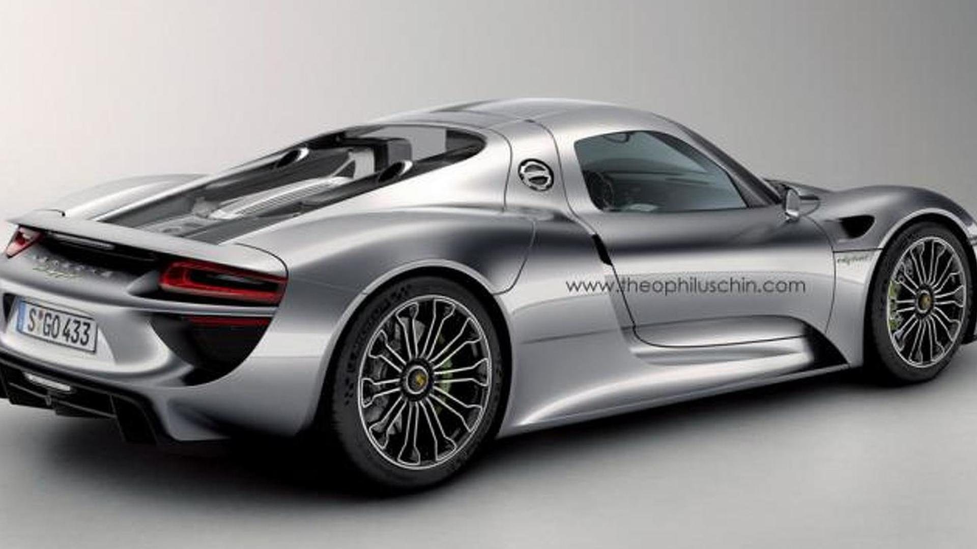 Porsche 918 Coupe gets rendered