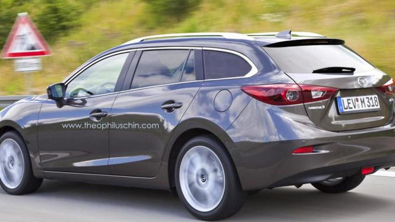 2014 Mazda3 Wagon render 28.08.2013
