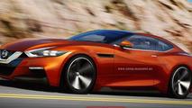 Next-gen Nissan GT-R rendered with Sport Sedan concept influences