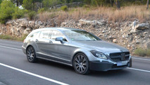 2015 Mercedes CLS Shooting Brake Facelift spied almost undisguised inside & out