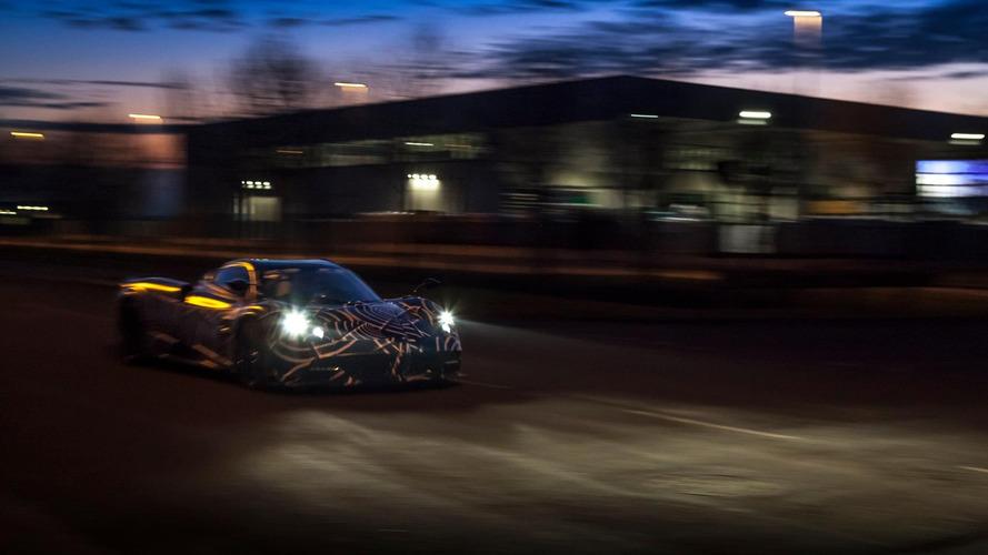 Pagani Huayra Roadster teasers