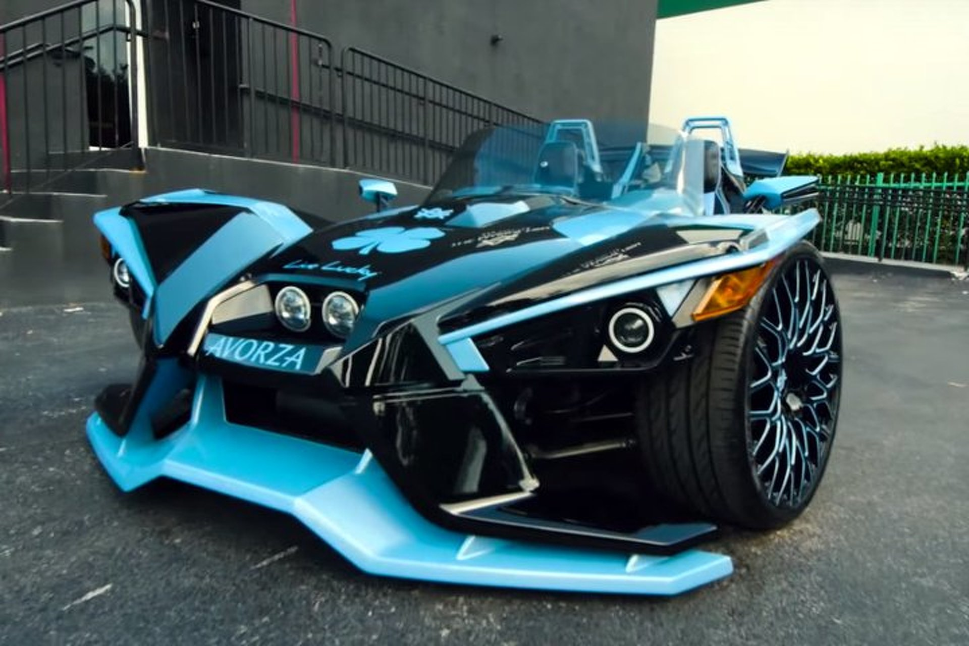 Three Wheeled Polaris Slingshot Customized With Help From
