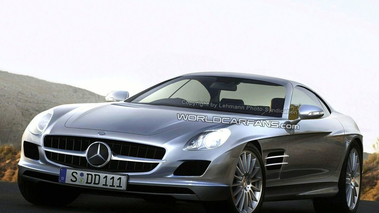 Artist impression - Mercedes AMG W 197 SLC Gullwing