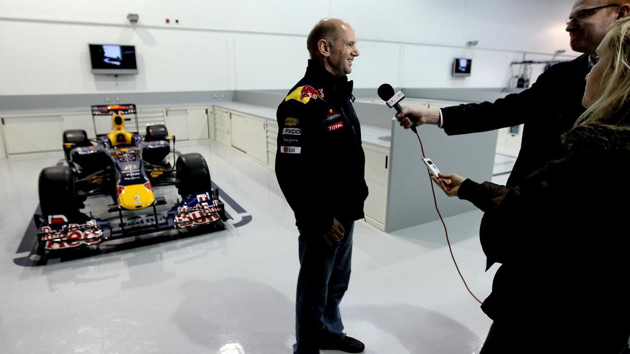 Red Bull racing chief technical officer Adrian Newey talking to the media, teams headquarters in Milton Keynes on 16.11.2010, Milton Keynes, England