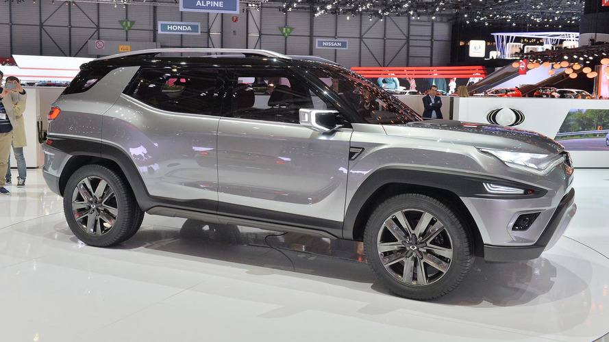 Ssangyong XAVL Concept blends minivan and CUV in chiseled package