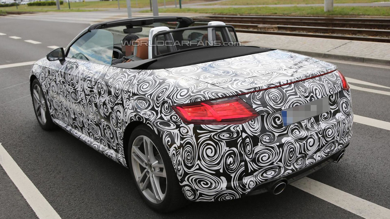 2015 Audi TT Roadster spy photo