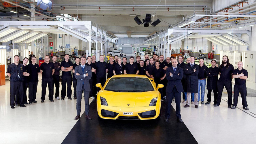Lamborghini celebrates 10,000th Gallardo produced