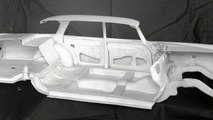 Mercedes-Benz 220 SE crumple zones
