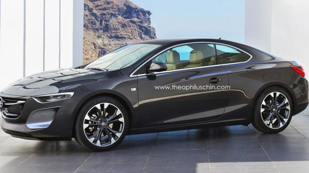 Opel Calibra rendering / Theophilus Chin
