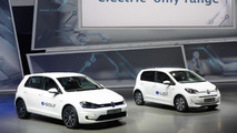 Volkswagen e-up! and e-Golf live at 2013 Frankfurt Motor Show 12.09.2013
