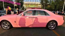Rolls-Royce Ghost with pink finish