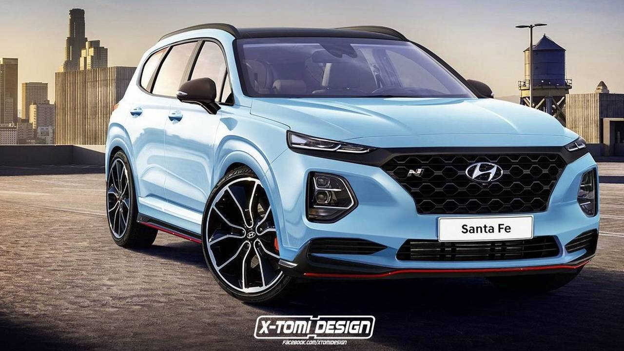 2019 hyundai santa fe already imagined with n attire. Black Bedroom Furniture Sets. Home Design Ideas