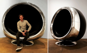 An Old Boeing 737 Engine Cowling is Reborn...As a Chair