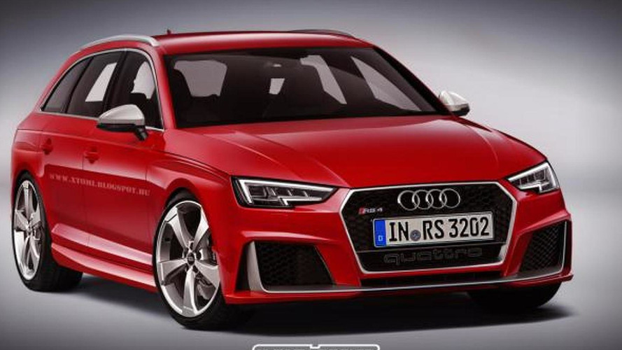 Audi RS4 Avant already rendered based on B9 generation
