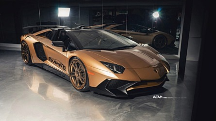 There's Flashy, And Then There's This Matte Gold Lambo Aventador