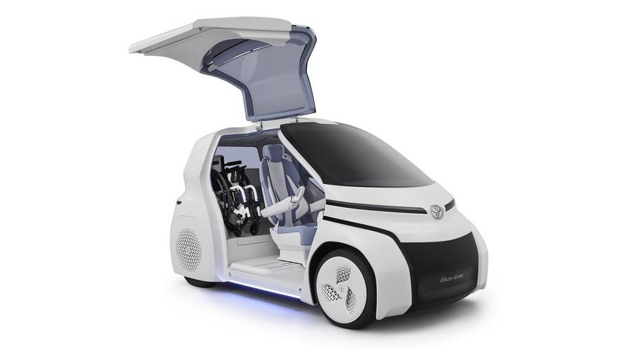 Toyota Concept-i Ride Heading To Tokyo With Gullwing Doors