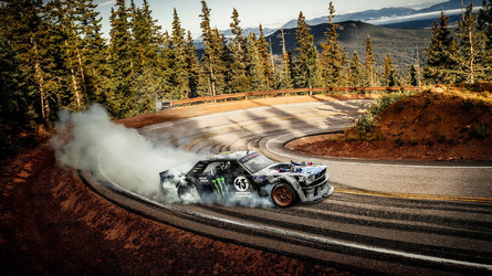 Ken Block Makes 1,400-Hp Hoonicorn Mustang Dance Up Pikes Peak