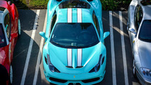Ferrari 458 Speciale with Tiffany Blue paint