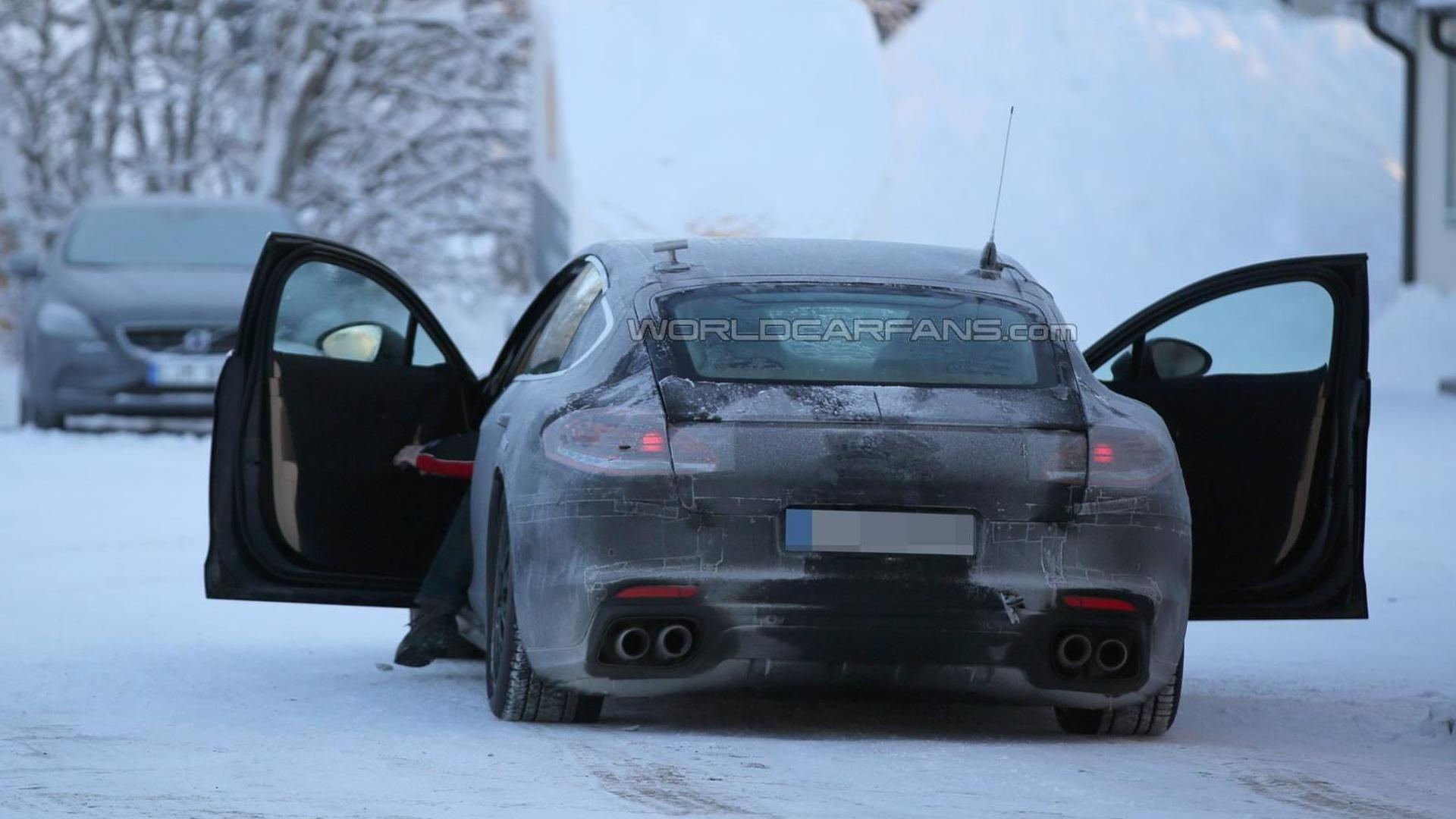 next gen porsche panamera spied inside and out ting less
