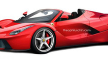 Ferrari LaFerrari Spider gets rendered
