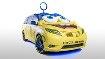 SpongeBob themed Toyota Sienna for the L.A. Auto Show