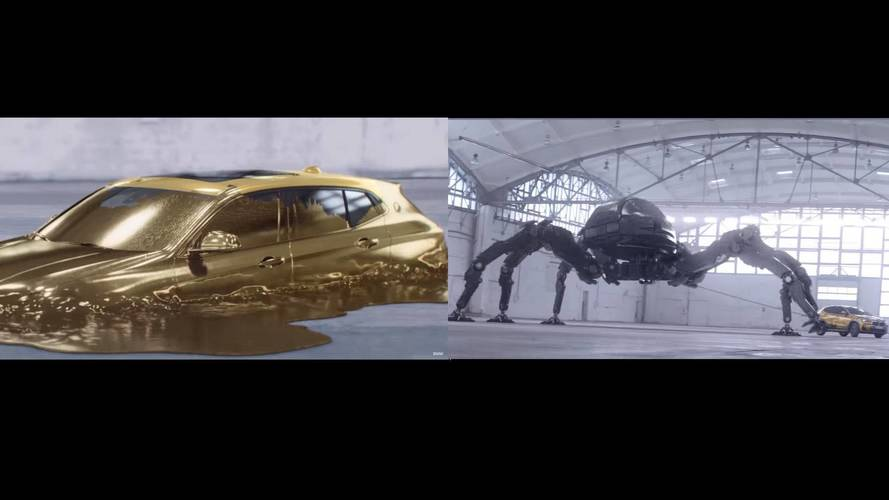 BMW X2 Morphs From Gold To Battle Robot Spider In First TV Ad